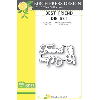 Birch Press Design BEST FRIEND Craft Die Set 58132