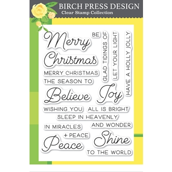 Birch Press Design JOY AND PEACE Clear Stamps cl8131