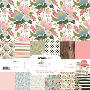 Kaisercraft FULL BLOOM 12x12 Inch Paper Collection PK585