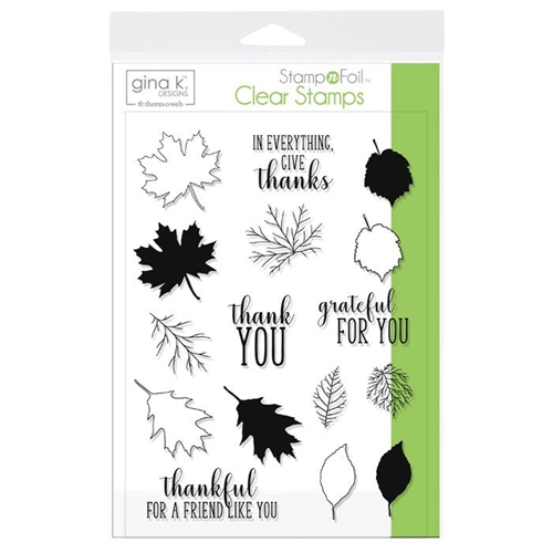 Therm O Web Gina K Designs THANKFUL LEAVES Clear Stamps 18106 Preview Image