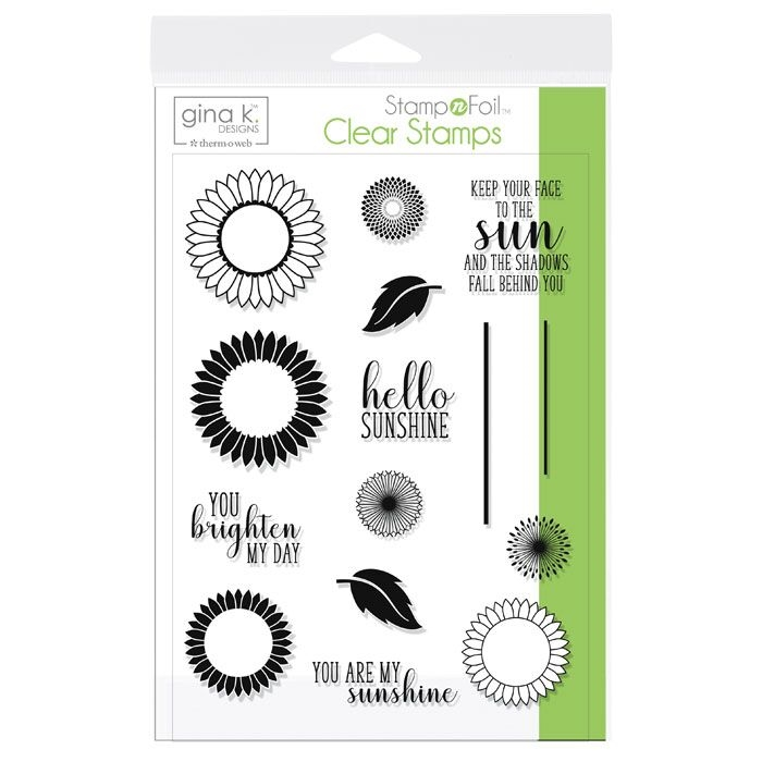 Therm O Web Gina K Designs GRAPHIC SUNFLOWERS Clear Stamps 18105 zoom image