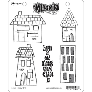 Dyan Reaveley HOME Stamp Set Dylusions Cling Unmounted Rubber DYR64671