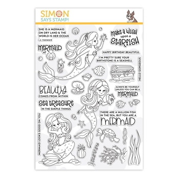 Simon Says Clear Stamps BEAUTIFUL MERMAIDS sss101911