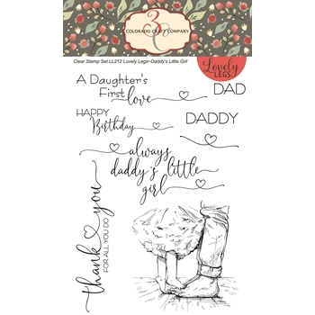 Colorado Craft Company DADDY'S GIRL Clear Stamps LL212