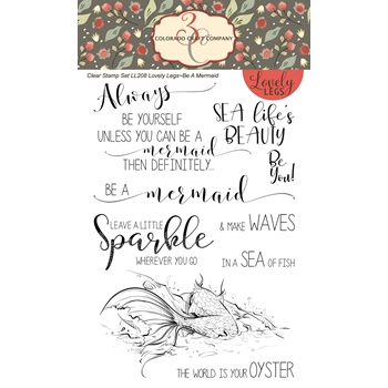Colorado Craft Company BE A MERMAID Clear Stamps LL210