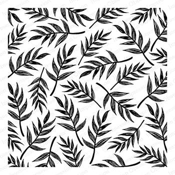 Impression Obsession Cling Stamp SKETCHED PALM LEAVES Create A Card CC332