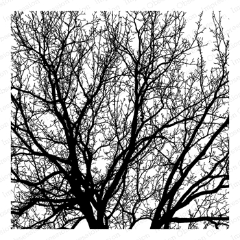 Impression Obsession Cling Stamp TREE Create A Card CC331