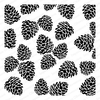 Impression Obsession Cling Stamp PINECONES Create A Card CC321