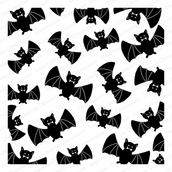 Impression Obsession Cling Stamp BATTY Create A Card CC319