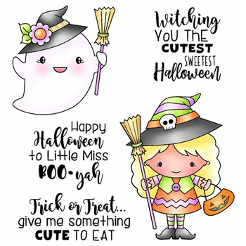 Darcie's WITCHING YOU CUTEST Clear Stamp Set pol403