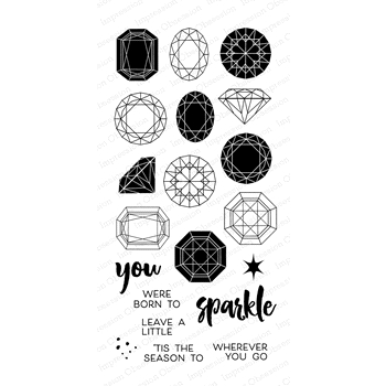 Impression Obsession Clear Stamps PRECIOUS GEMS WP884