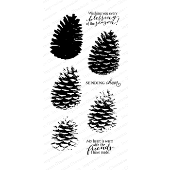 Impression Obsession Clear Stamps LAYERED PINECONE WP883