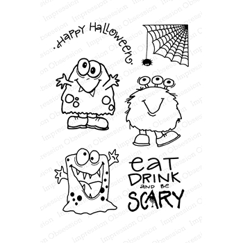 Impression Obsession Clear Stamps MONSTER MASH CL886