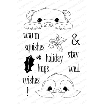 Impression Obsession Clear Stamps WARM WISHES CL879