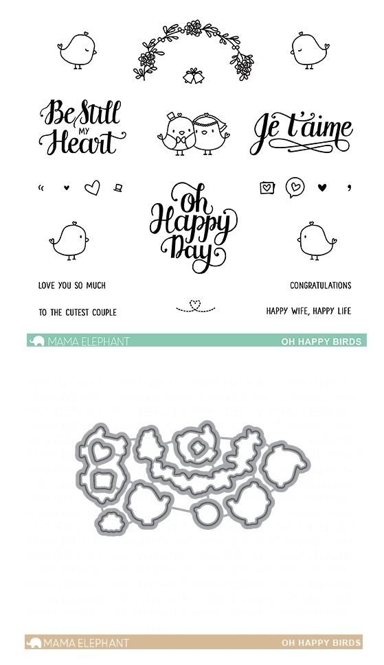 Mama Elephant Clear Stamp and Die MEPT501 Oh Happy Birds SET zoom image