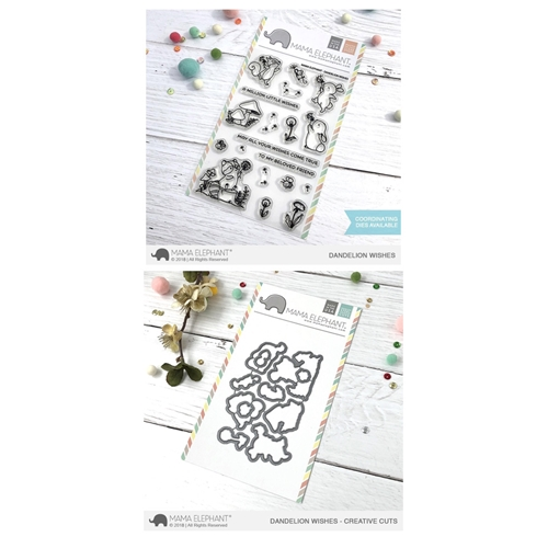 Mama Elephant Clear Stamp and Die MEPT502 Dandelion Wishes SET Preview Image