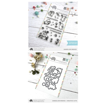 Mama Elephant Clear Stamp and Die MEPT502 Dandelion Wishes SET