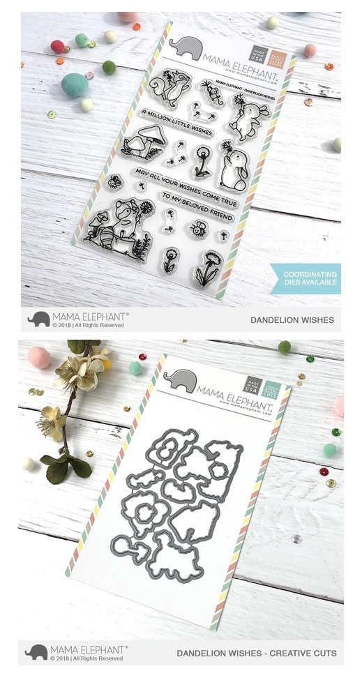 Mama Elephant Clear Stamp and Die MEPT502 Dandelion Wishes SET zoom image