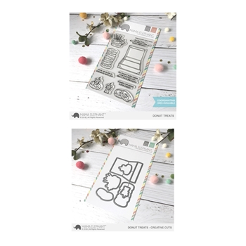 Mama Elephant Clear Stamp and Die MEPT509 Donut Treats SET