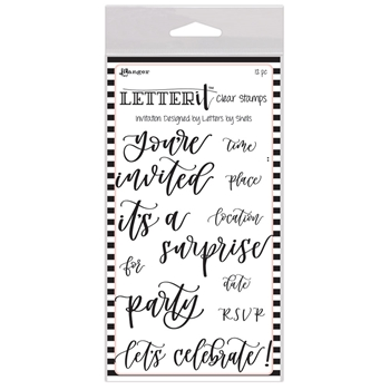 Ranger INVITATION Letter It Stamp Set lec63100