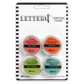Ranger BRIGHTS EMBOSSING POWDER SET Letter It lep62912
