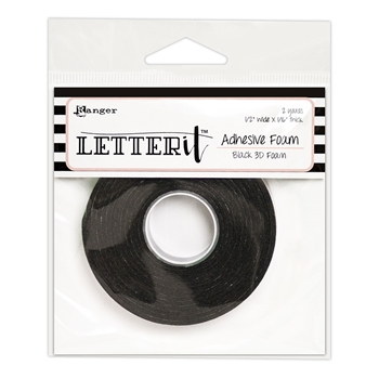Ranger BLACK Letter It Adhesive Foam lea62882