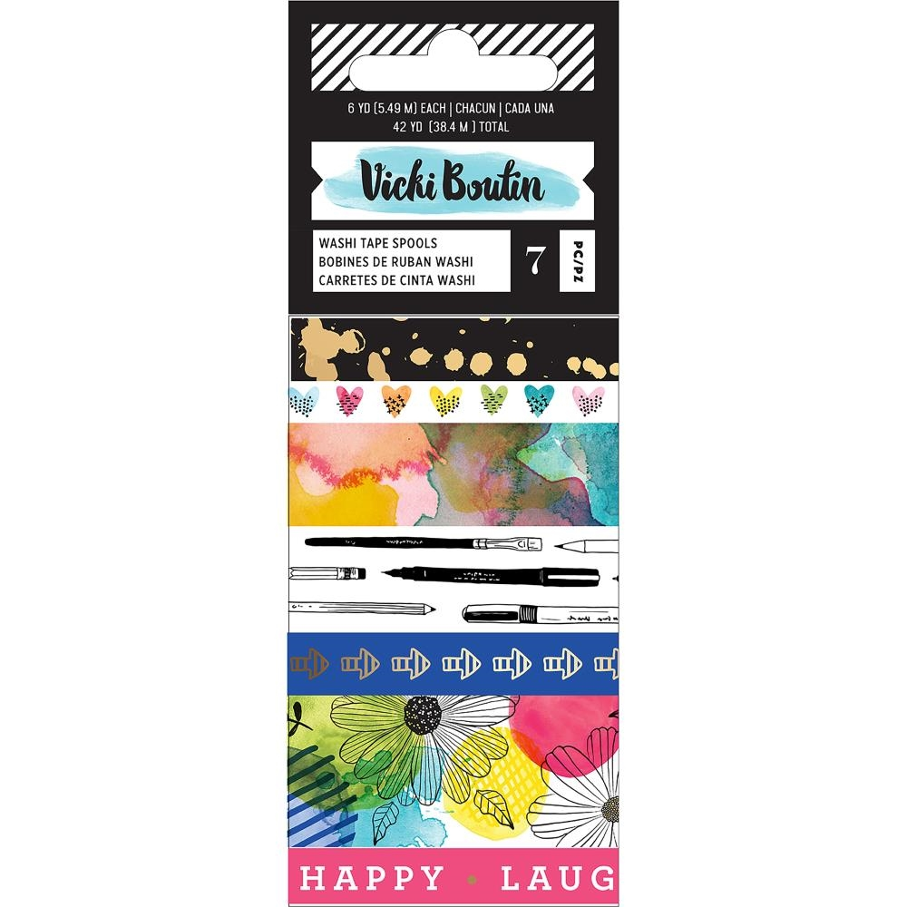 American Crafts Vicki Boutin FIELD NOTES Washi Tape Spools 346547 zoom image