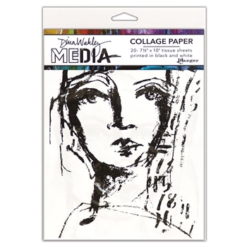 Dina Wakley Ranger COLLAGE PAPER FACES Media mda63827