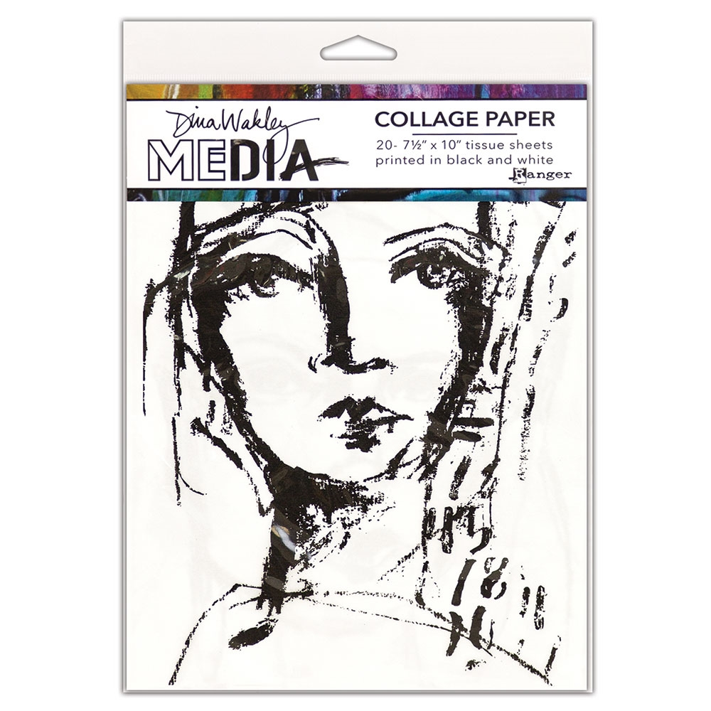 Dina Wakley Ranger COLLAGE PAPER FACES Media mda63827 zoom image