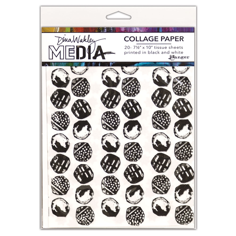 Dina Wakley Ranger COLLAGE PAPER BACKGROUNDS Media mda63933 zoom image