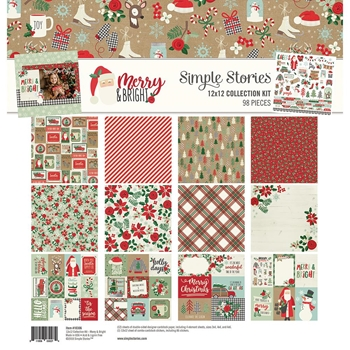 Simple Stories MERRY AND BRIGHT 12 x 12 Collection Kit 10306