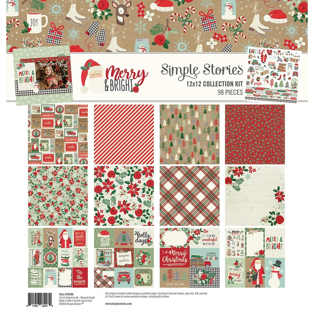 Simple Stories MERRY AND BRIGHT 12 x 12 Collection Kit 10306 zoom image
