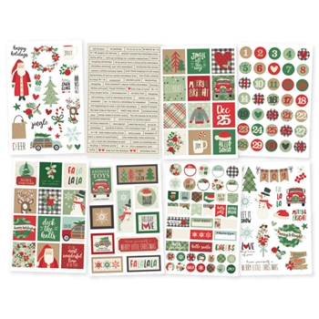Simple Stories MERRY AND BRIGHT 4 x 6 Stickers 10322