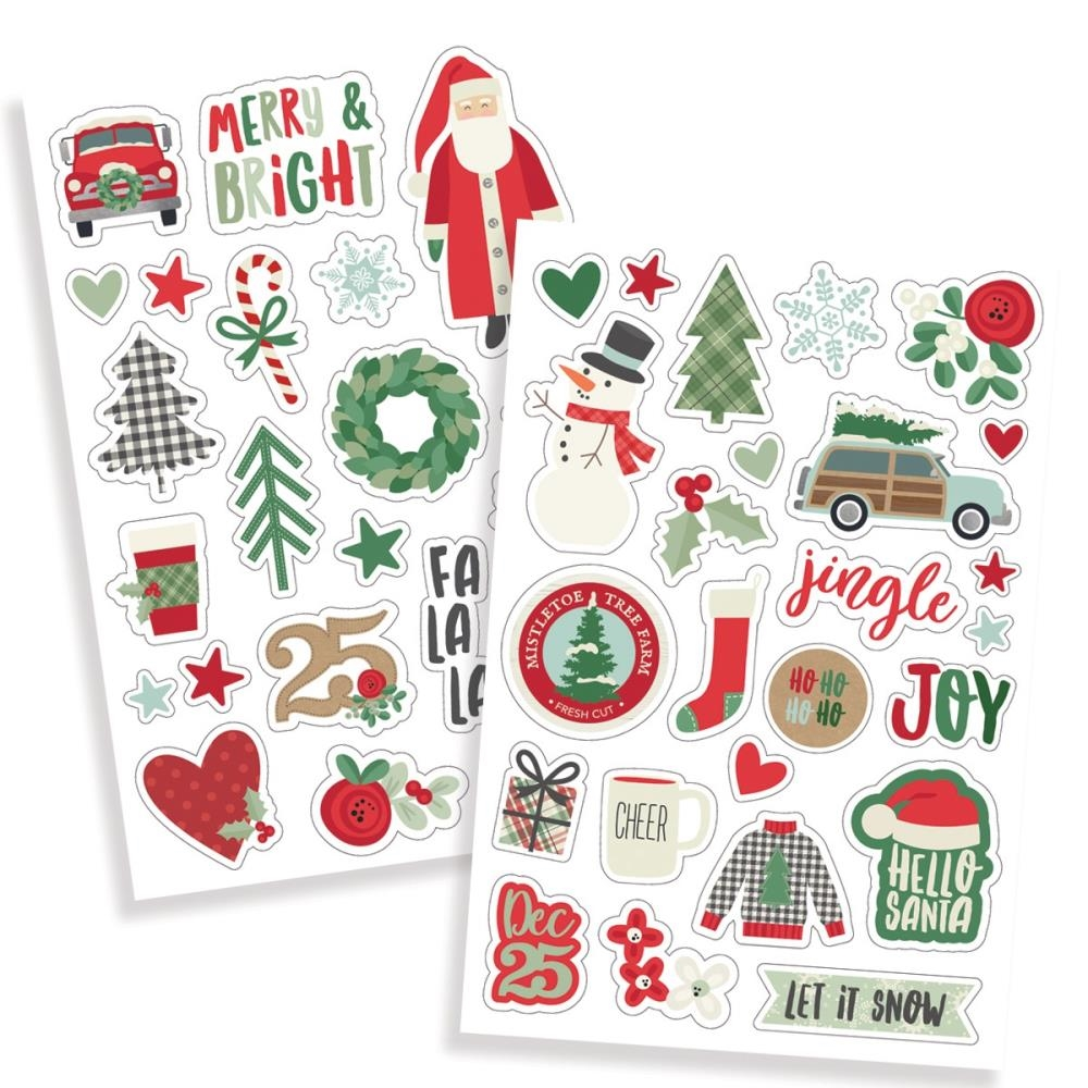 Simple Stories MERRY AND BRIGHT Puffy Stickers 10326 zoom image