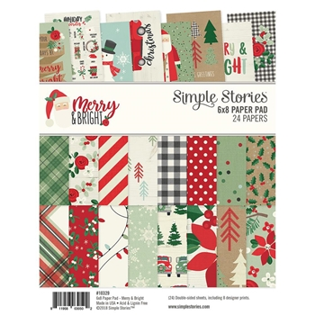 Simple Stories MERRY AND BRIGHT 6 x 8 Paper Pad 10329