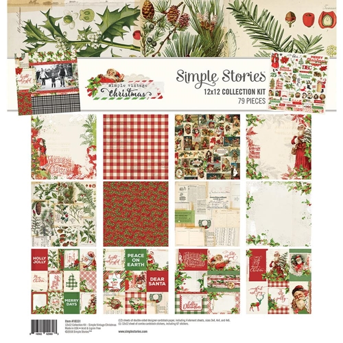 Simple Stories VINTAGE CHRISTMAS 12 x 12 Collection Kit 10331 Preview Image