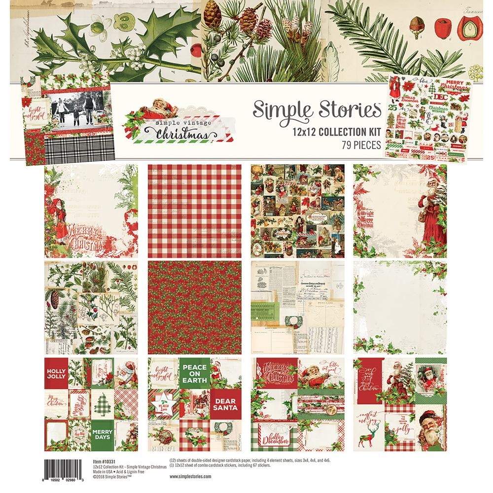 Simple Stories VINTAGE CHRISTMAS 12 x 12 Collection Kit 10331 zoom image