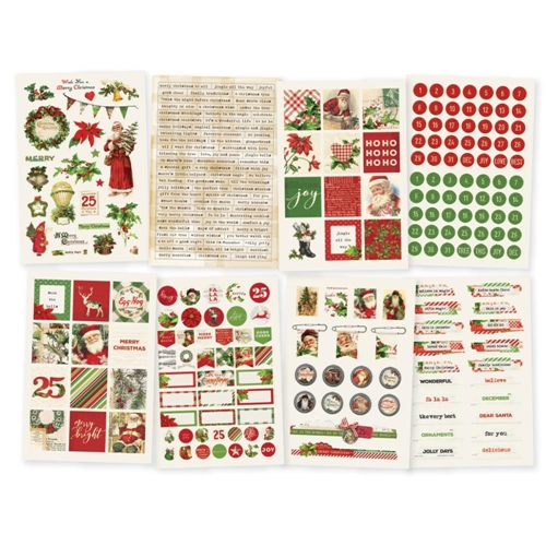 Simple Stories VINTAGE CHRISTMAS 4 x 6 Stickers 10352 Preview Image