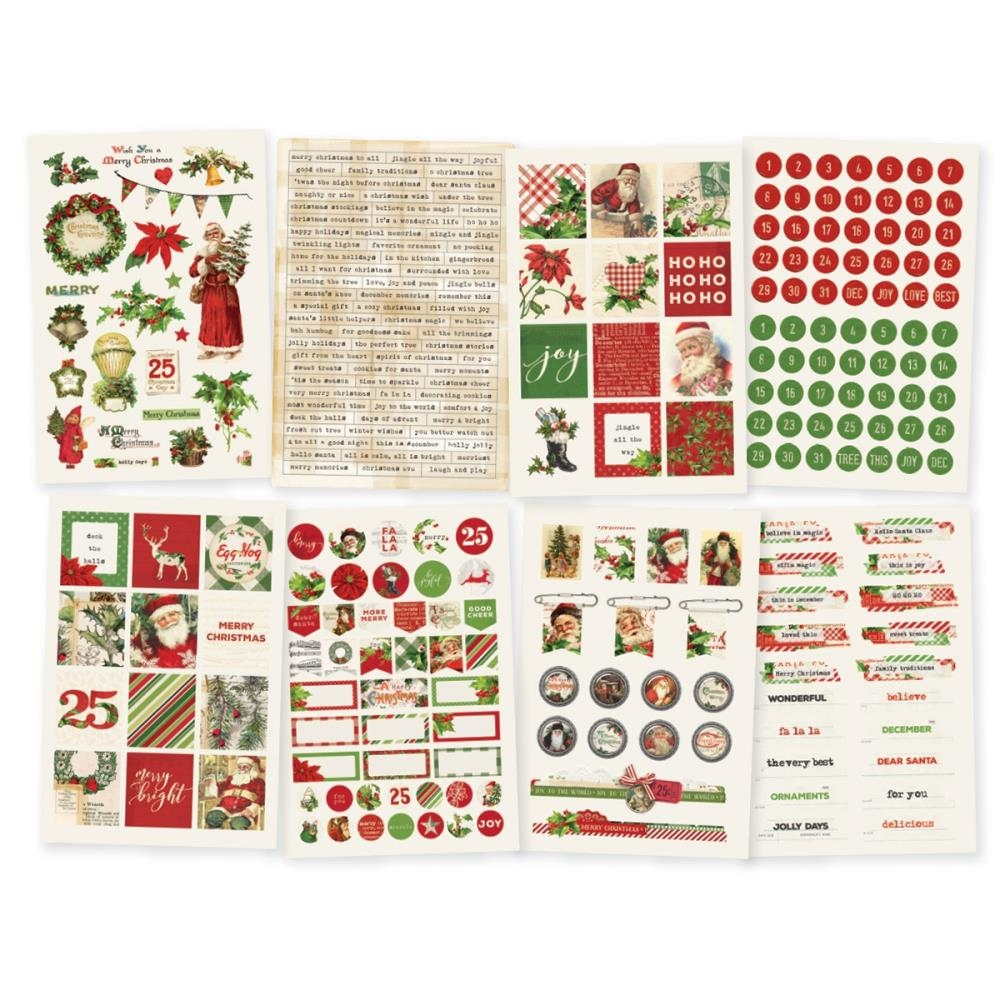 Simple Stories VINTAGE CHRISTMAS 4 x 6 Stickers 10352 zoom image