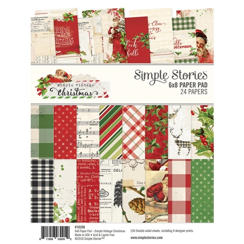 Simple Stories VINTAGE CHRISTMAS 6 x 8 Paper Pad 10356 Preview Image