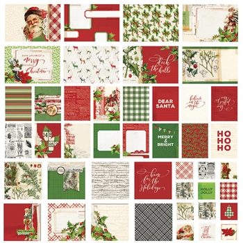 Simple Stories VINTAGE CHRISTMAS Snap Cards 10417
