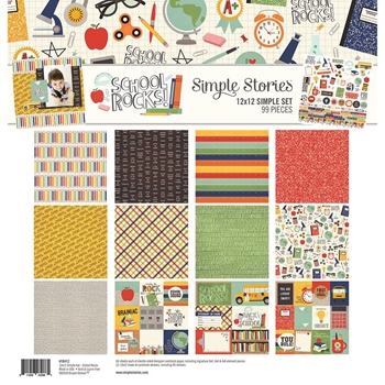 Simple Stories SCHOOL ROCKS 12 x 12 Collection Kit 10412