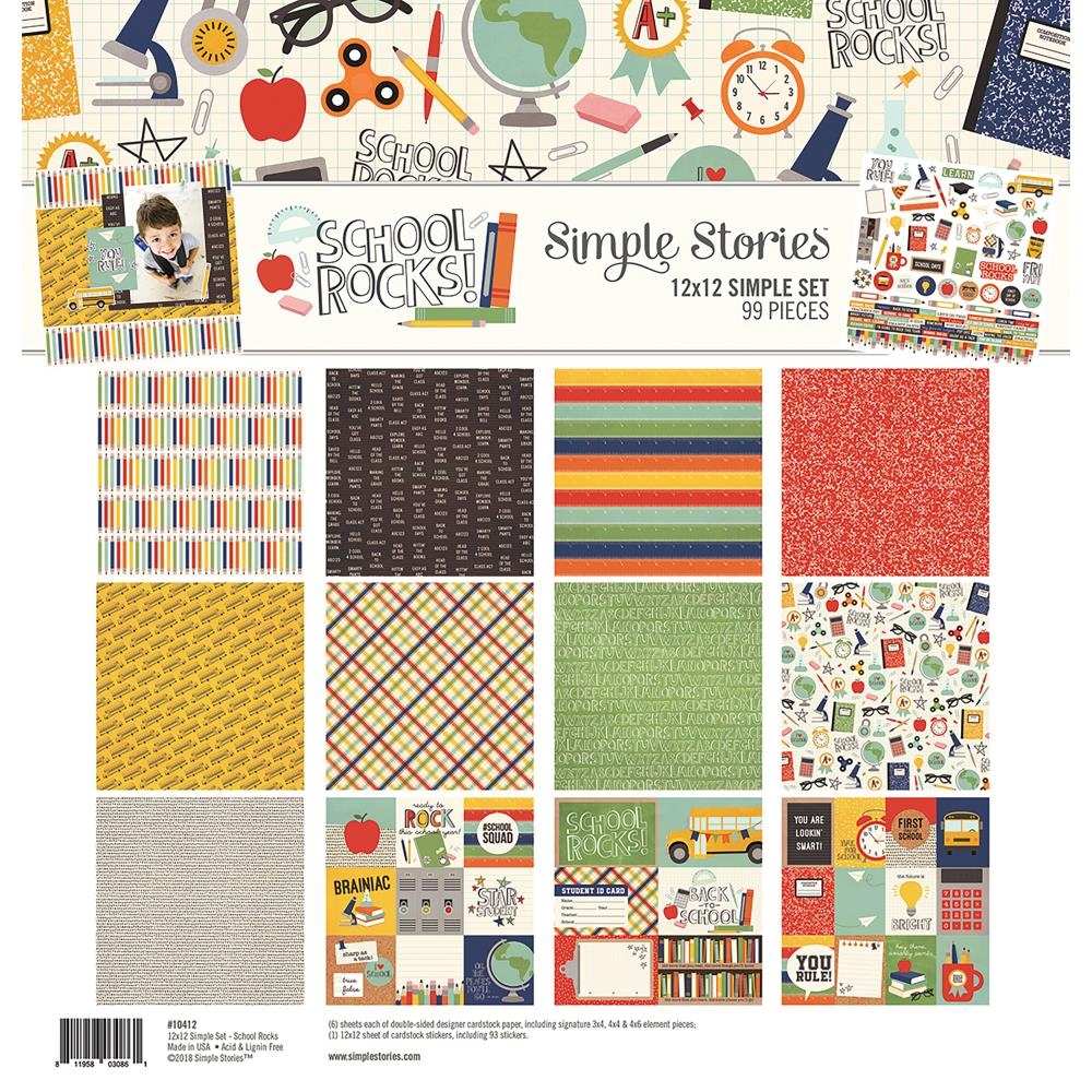 Simple Stories SCHOOL ROCKS 12 x 12 Collection Kit 10412 zoom image