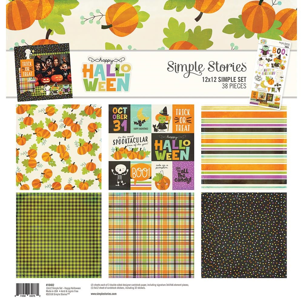 Simple Stories HAPPY HALLOWEEN 12 x 12 Collection Kit 10402 zoom image