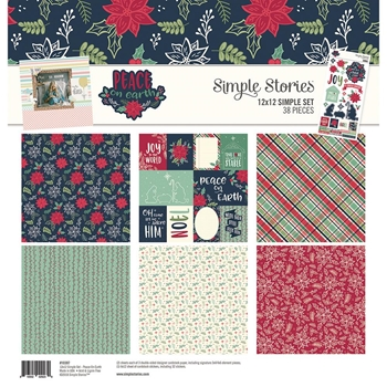 Simple Stories PEACE ON EARTH 12 x 12 Collection Kit 10397