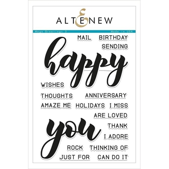 Altenew MEGA GREETINGS 2 Clear Stamps ALT2488