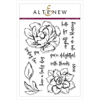 Altenew INKED FLORA Clear Stamps ALT2485
