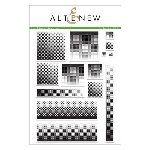 Altenew HALFTONE SQUARES Clear Stamps ALT2479 Preview Image