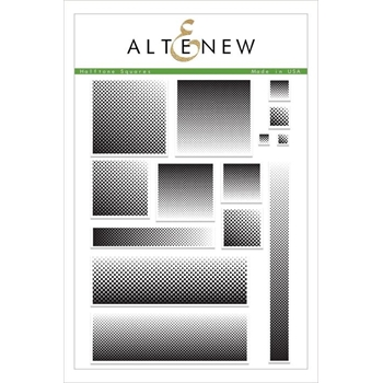 Altenew HALFTONE SQUARES Clear Stamps ALT2479