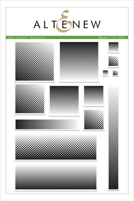 Altenew HALFTONE SQUARES Clear Stamps ALT2479 zoom image